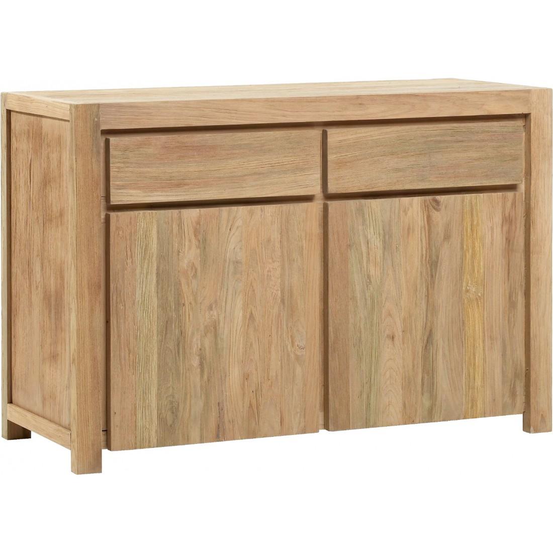 buffet en teck recycl bross drift 2 portes 2 tiroirs uk. Black Bedroom Furniture Sets. Home Design Ideas