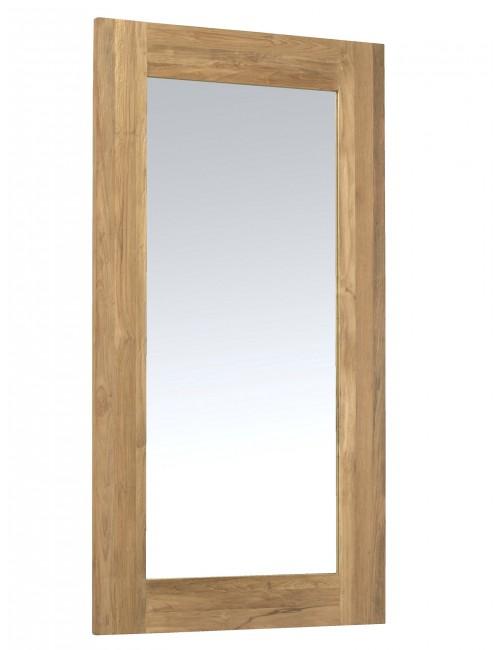 miroir Drift en teck naturel recyclé et brossé
