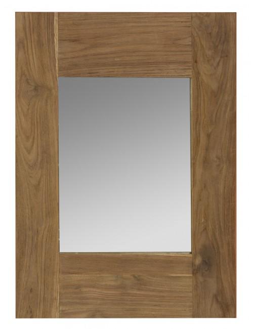 Miroir teck naturel recyclé 70x50
