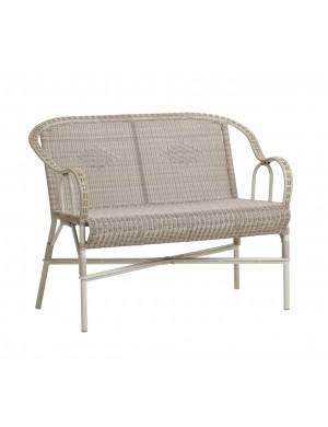 Canapé de jardin en résine dune Marcel