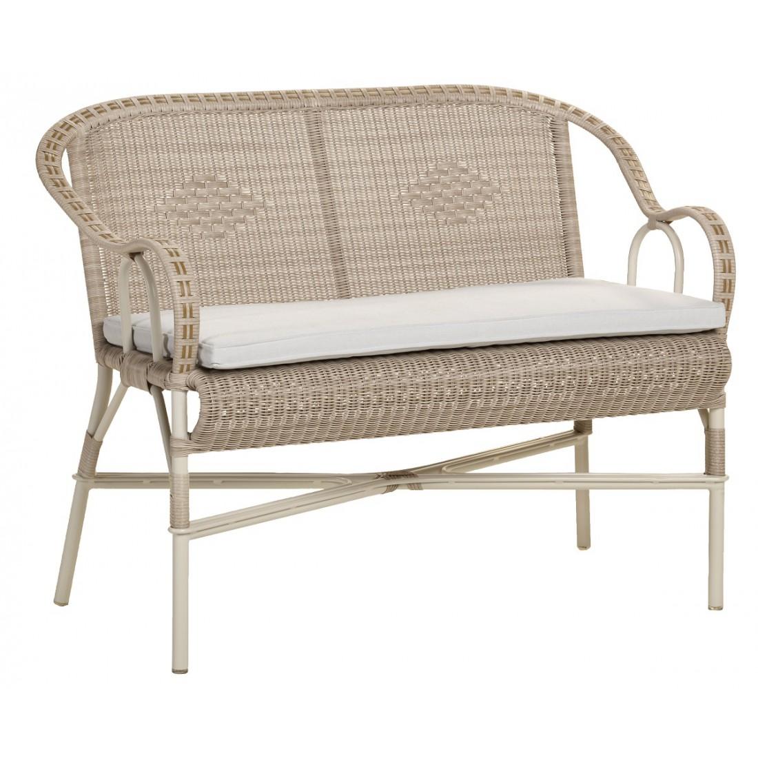 canap de jardin en r sine dune marcel coussin perle. Black Bedroom Furniture Sets. Home Design Ideas