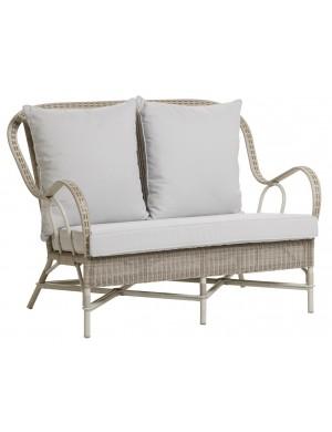 Canapé de jardin en résine Nantucket coussin perle