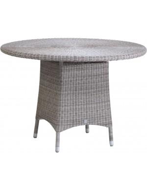 Table de jardin Cigale gris Galet diam 110 cm