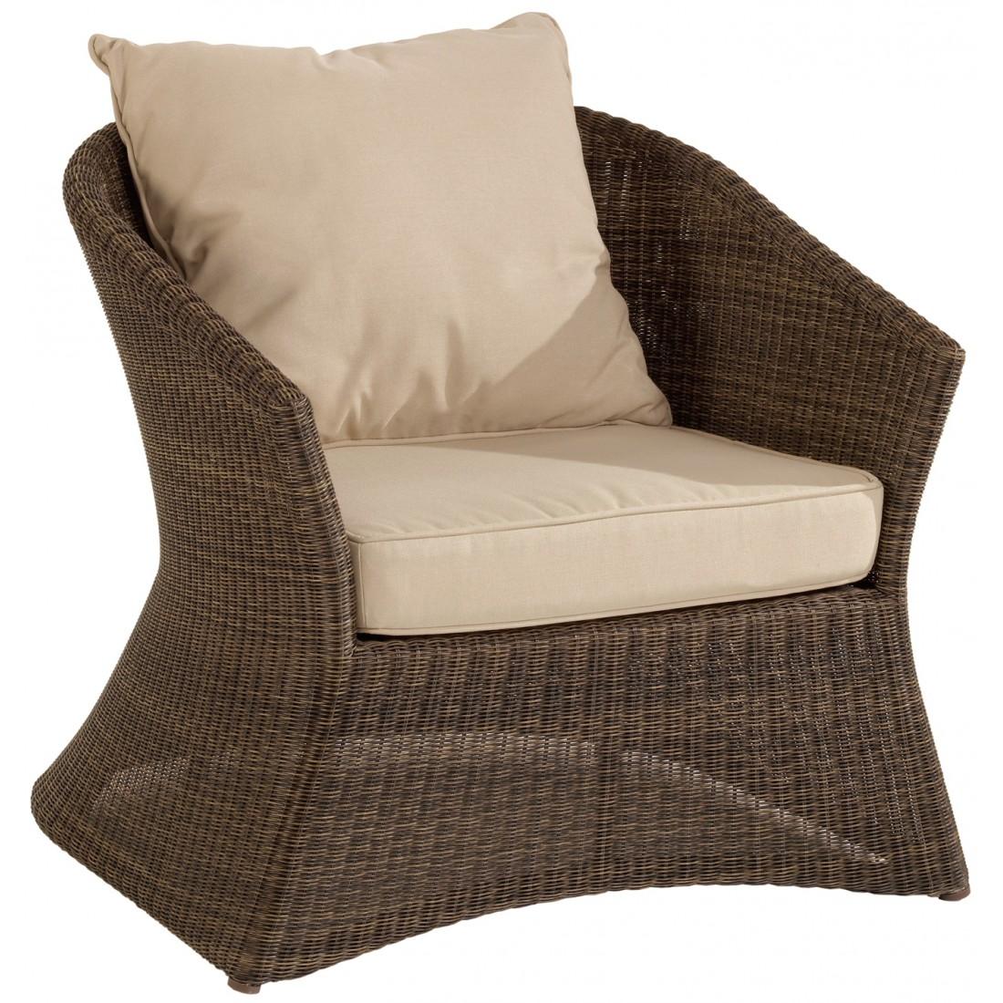 fauteuil de jardin r sine poivre z nith avec coussins gris. Black Bedroom Furniture Sets. Home Design Ideas