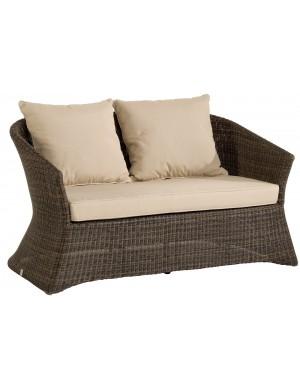 Zenith Poivre coloured resin 2-seater sofa