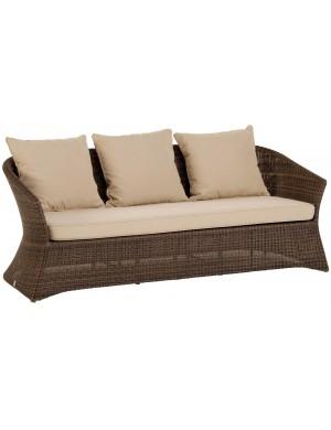 Canapé 3 pl jardin résine poivre Zenith
