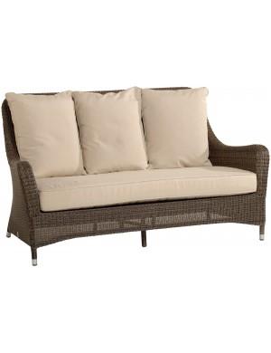 Canapé 2pl jardin résine poivre Transat