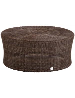 Table basse de jardin Biblos marron Poivre diam 80 cm