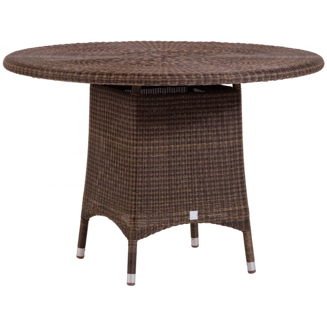 cigale outdoor 110cm table in poivre resin. Black Bedroom Furniture Sets. Home Design Ideas