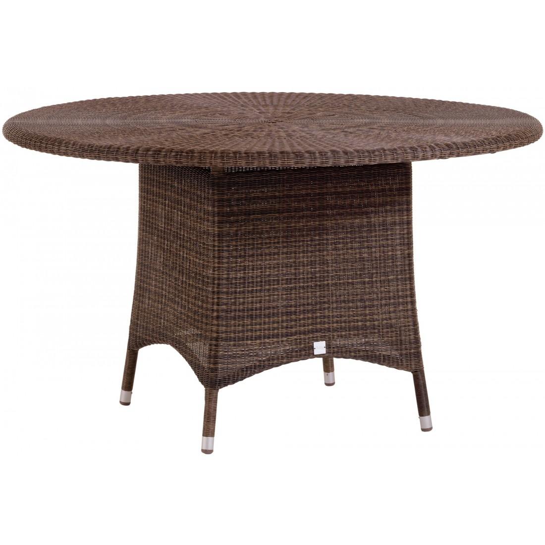 table de jardin en r sine poivre ronde cigale diam tre 130 cm. Black Bedroom Furniture Sets. Home Design Ideas
