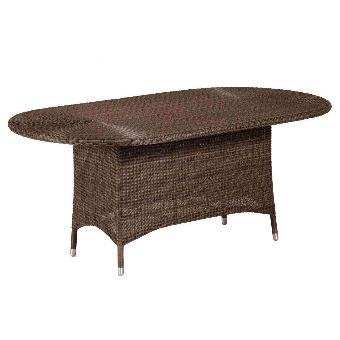 Table de jardin en r sine poivre ronde cigale ovale 110 x for Housse pour table de jardin ovale 200 cm