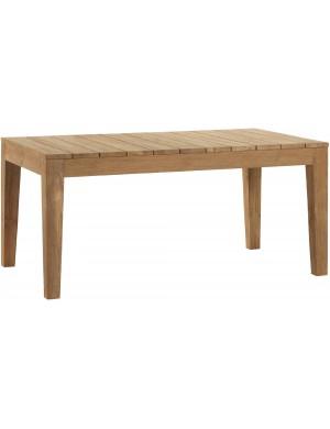 Table de jardin 170x100 en teck recyclé brossé