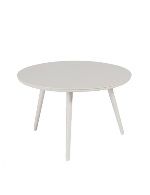 Table basse Sienna diamètre 60 alu blanc fumée