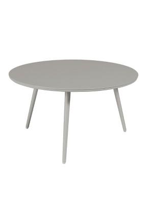 Table basse Sienna diamètre 80 alu gris béton