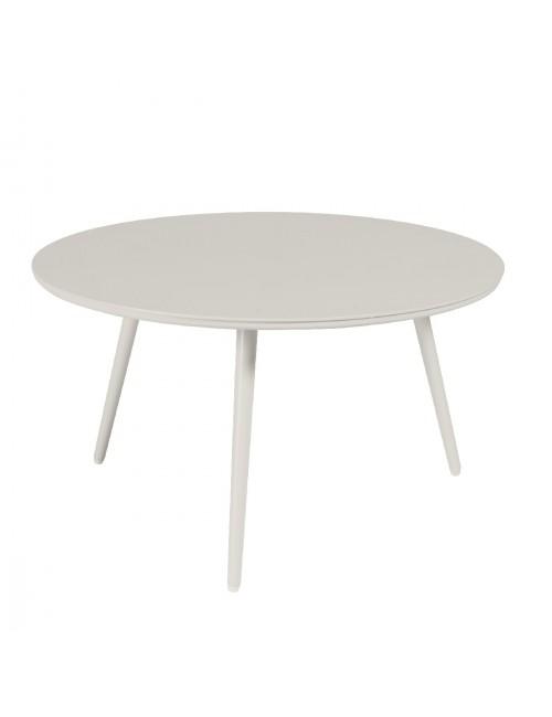 Table basse Sienna diamètre 80 alu blanc fumée