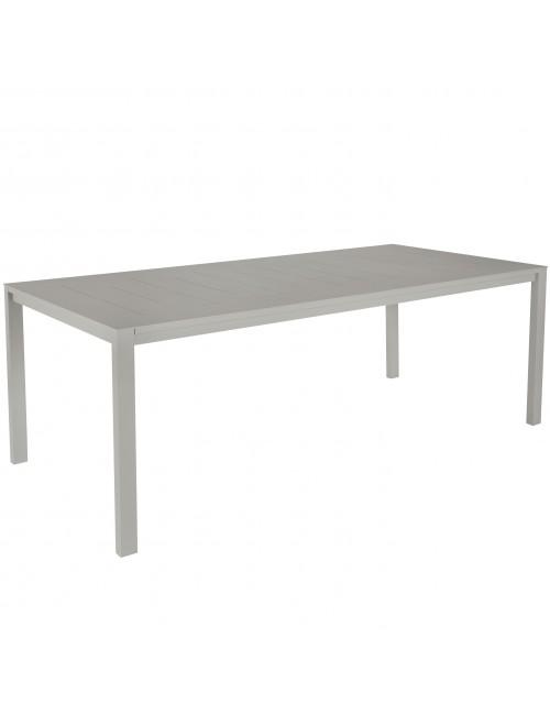 Table repas Sienna 220x100 alu gris béton