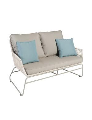 Canapé de jardin 2 places en résine Maldives