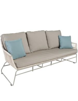 Maldives 3-seater resin garden sofa