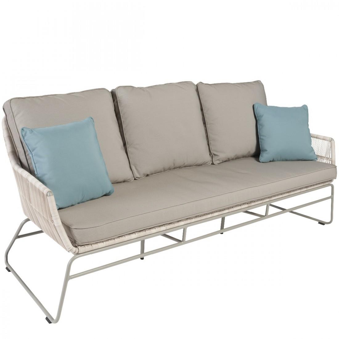 canap de jardin 3 places en r sine tress e maldives. Black Bedroom Furniture Sets. Home Design Ideas