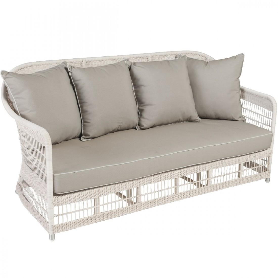 canap 3 places de jardin en r sine tress e biarritz. Black Bedroom Furniture Sets. Home Design Ideas