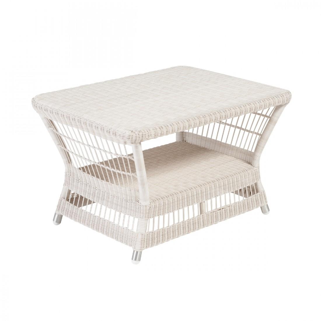 Table basse rectangulaire de jardin en résine Biarritz sans verre