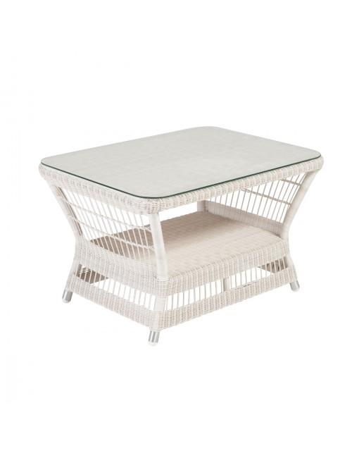 Table basse rectangulaire Biarritz avec verre