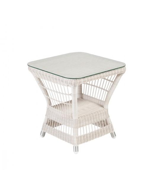 Table basse carrée Biarritz avec verre
