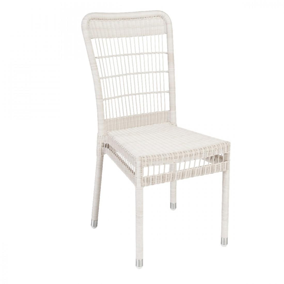 Chaise de jardin en r sine tress e biarritz sans coussin - Chaise jardin resine tressee ...