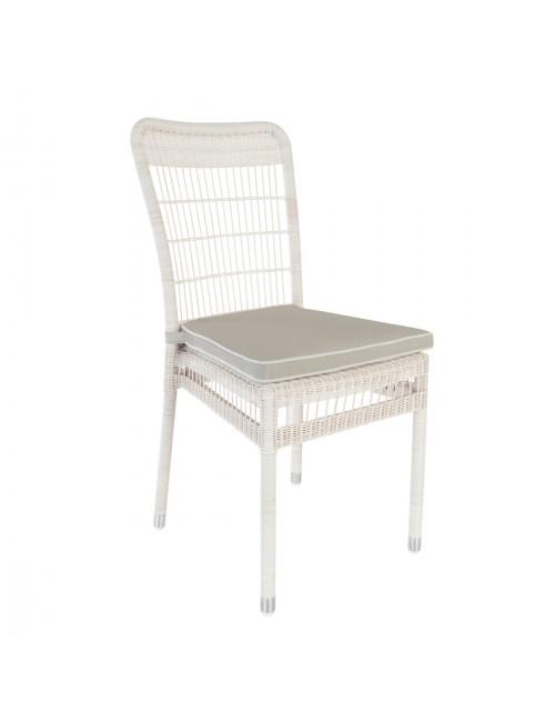 Chaise de jardin en résine Biarritz avec coussin