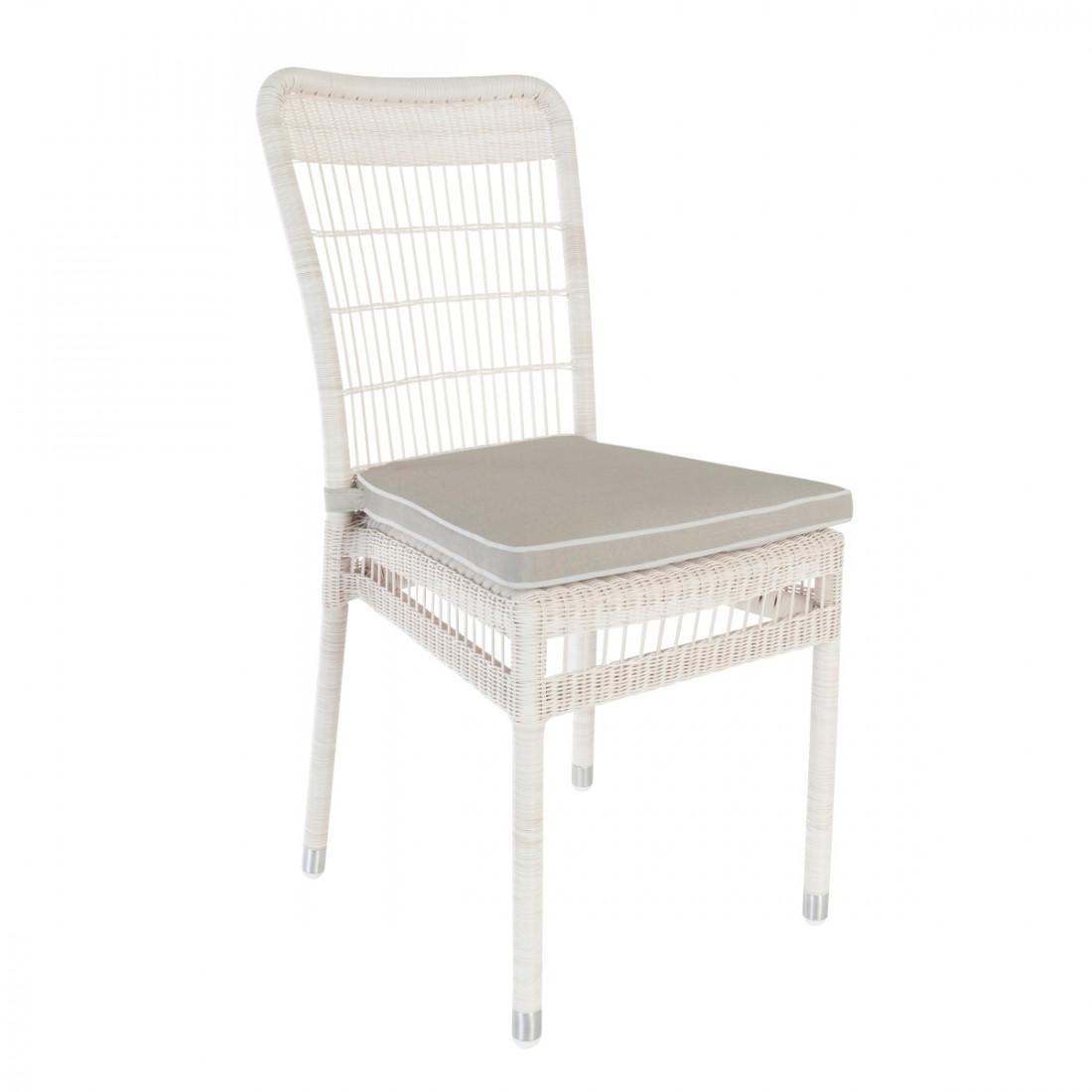 chaise de jardin en rsine biarritz avec coussin - Chaise De