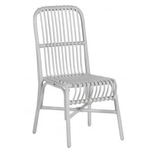Chaise vintage Valérie en rotin blanc