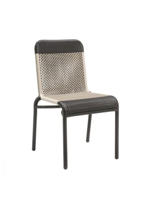 Chaise de jardin en résine Tobago marron foncé
