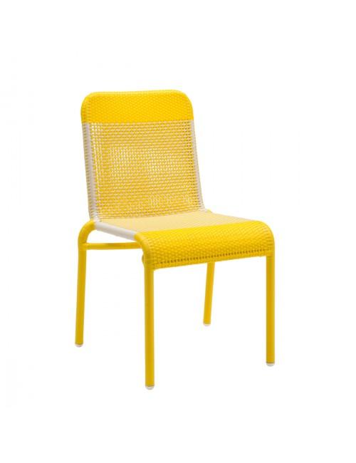 Chaise de jardin en résine Tobago jaune
