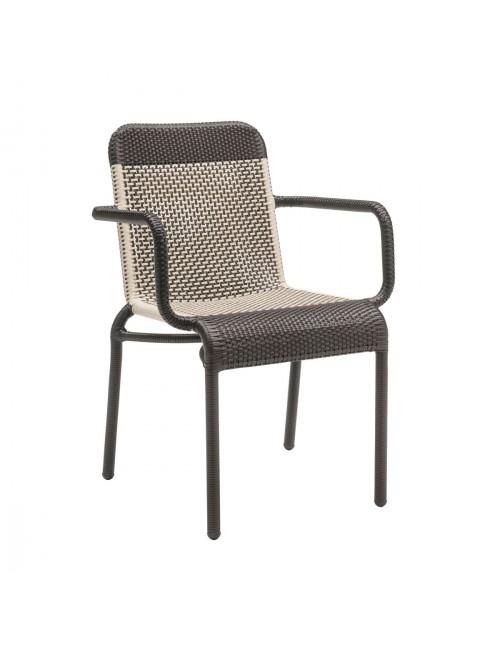 Transat outdoor armchair in Galet resin