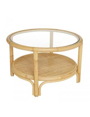 Table basse en rotin Riviera diamètre 66 cm