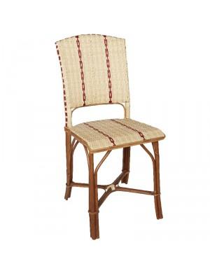Chaise en rotin + résine Bistrot