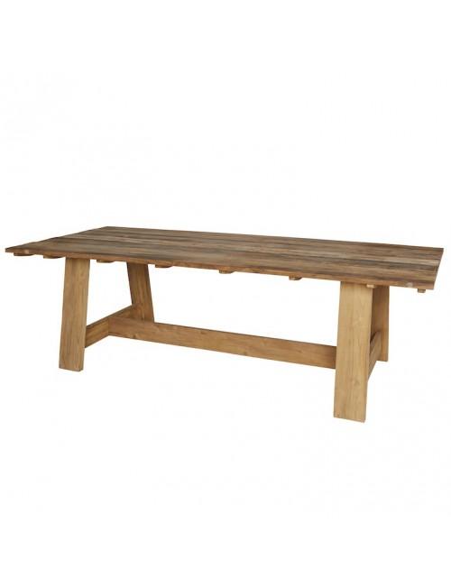 Table teck recyclé Roma 250X100