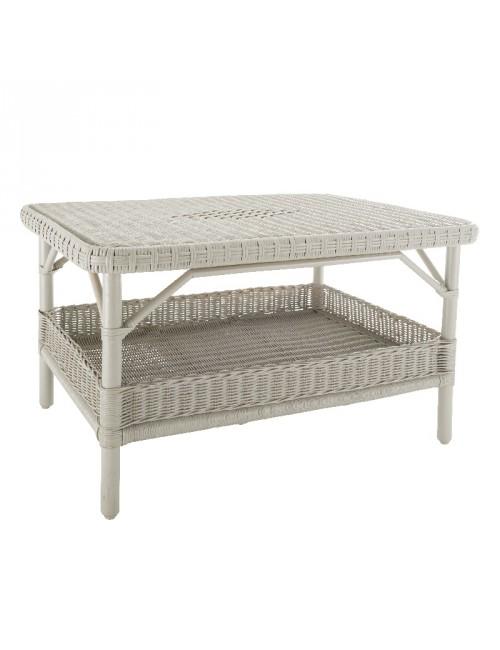 TABLE BASSE NANTUCKET LAQUE BLANC