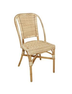 Chaise en rotin et résine Guinguette