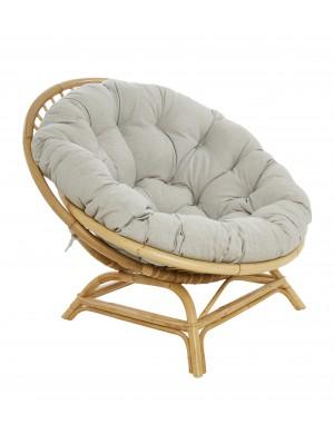 XXL Coquille rattan armchair