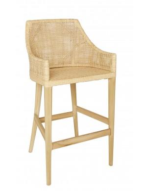 Saigon bar stool in rattan by KOK Maison
