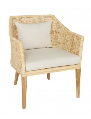 Saigon armchair in rattan