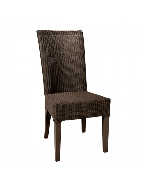 Joséphine Lloyd Loom chair in Marron Chocolat