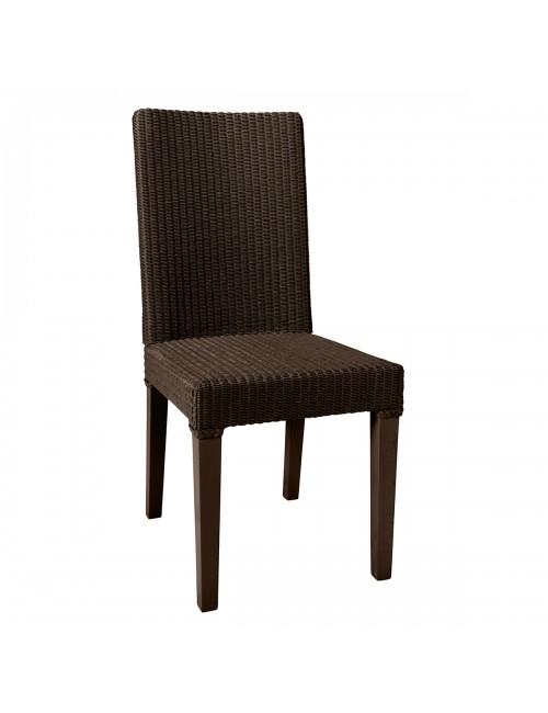 Bridget Lloyd Loom chair in Marron Chocolat