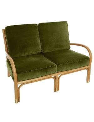 Canapé 2 pl Riviera velours vert