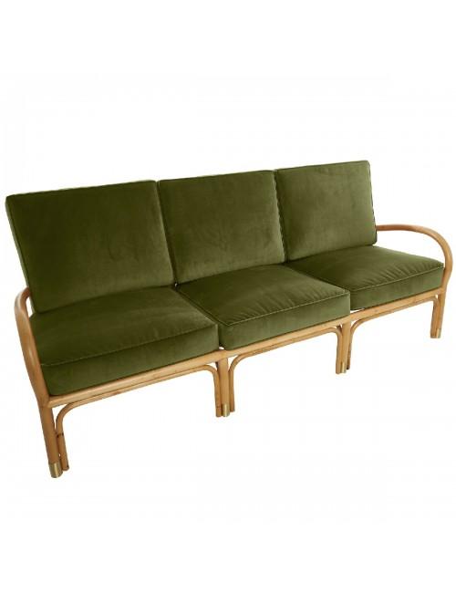 Canapé 3 pl Riviera velours vert