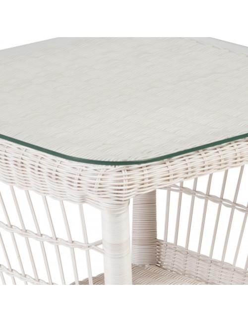 Plateau verre table carrée Antibes et Biarritz