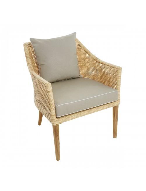 Sao Polo outdoor carver with cushion