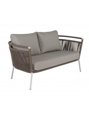Vegas 2-seater plaited cord garden sofa