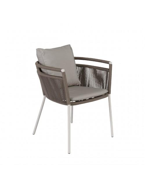 Zenith outdoor armchair in Galet resin